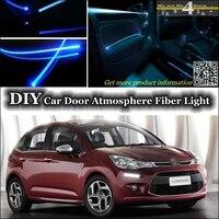 interior Ambient Light Tuning Atmosphere Fiber Optic Band Lights For Citroen C3 / C3 Picasso Inside Door Panel illumination