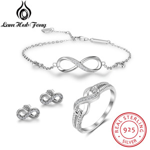 925 Sterling Silver Infinity L