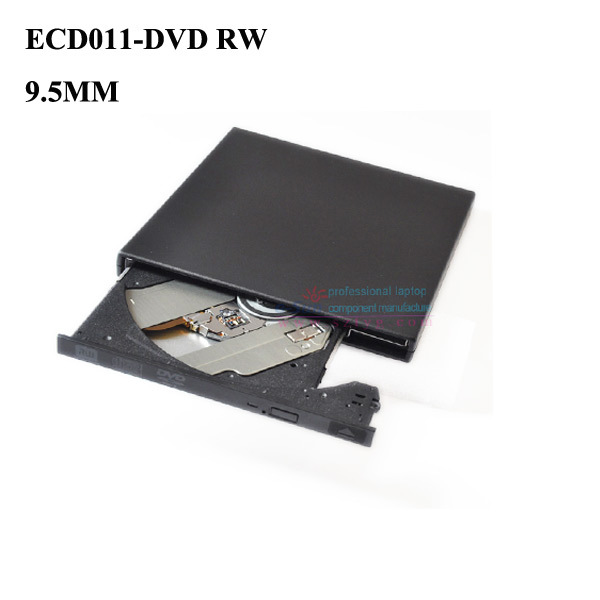 New External 9.5mm USB 2.0 Super Slim DVD ± RW Burner Gravador de DVD e CD Driver
