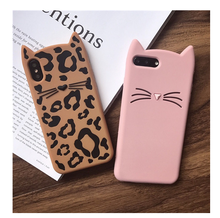 NEW 3D cute cartoon glitter beard cat Ears soft silicone case For iphone 5 5s se 6 6s 8 plus X rubber Coque back cover