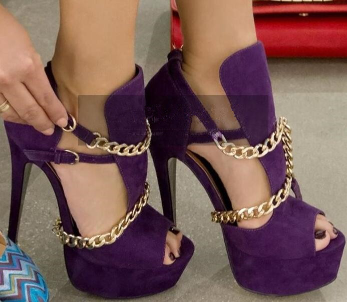 Popular Purple Gold Heels-Buy Cheap Purple Gold Heels lots from ...