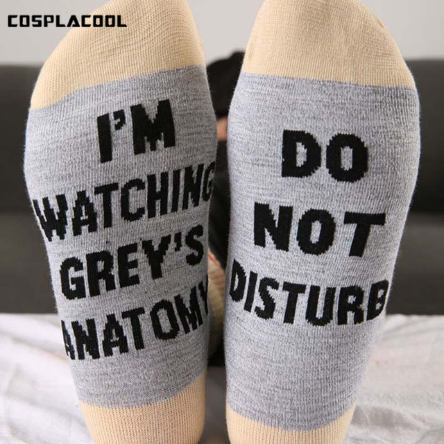 Cosplacool] Estoy mirando Anatomía de gray divertido Calcetines ...