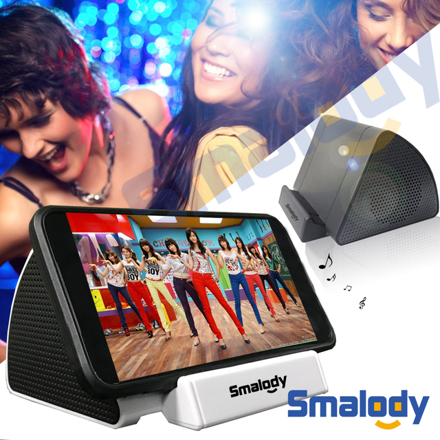 SMALODY Wireless Sensor Subwoofer Amplifier Mini Smart Mobile Phone Stand Holder Portable Loudspeaker Outdoor Audio Speakers