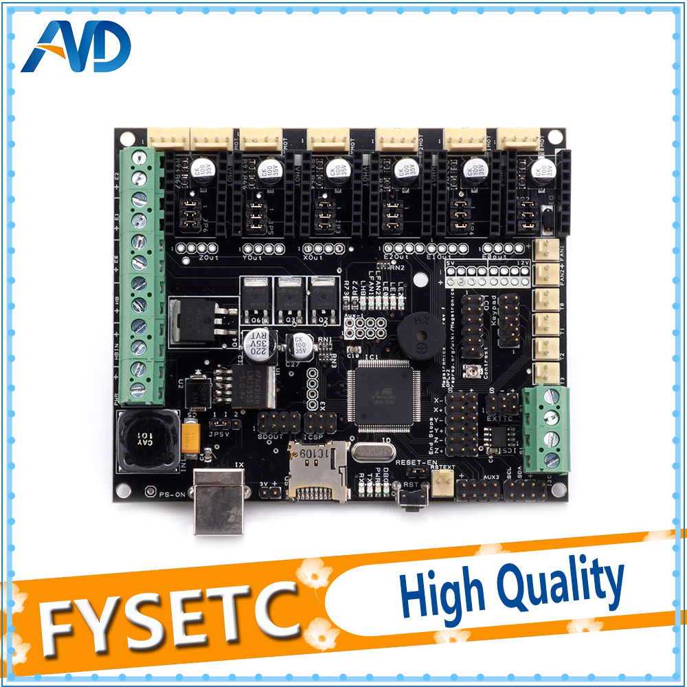3D Printer Motherboard Megatronics V3 Control Board With Two Welding AD597 Chip and Data Cable 3D Printer Parts Free Shipping free shipping high quality 3d printer dual extruder module with thermistor for v3 6 board 3d0114