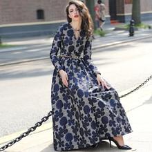 13351bade3230 Buy long sleeve jacquard maxi dress and get free shipping on ...