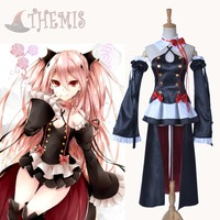 Athemis New Sexy Anime Cosplay Costume Seraph Of The End Krul Tepes Summmer Dress Sleeveless Top