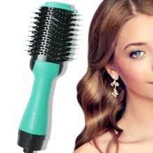 Electric Professional Hair Dryer Comb Infrared Negative Ion Hot Air Comb Straight Curling Hair Comb Hairdryer цена