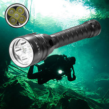 25000 Lumens Diving For Flashlight Torch 5*T6 Scuba Dive torch 200M Underwater Waterproof Tactical led Flashlights Lantern lamp(China)