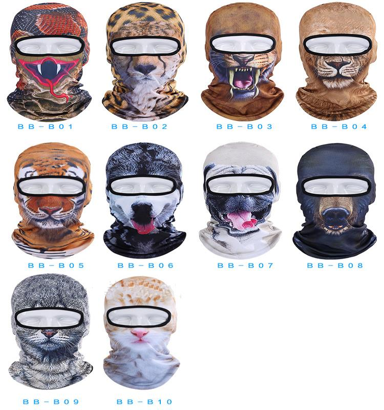 Hot Sale 2016 3D Cap Dog Animal Outdoor Sports Bicycle Cycling Motorcycle Masks Ski Hood Hat Veil Balaclava UV Full Face Mask 1
