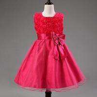 New Girls Dress Lace Princess Bowknot Wedding Party Kids Tu Tu Dresses Kids