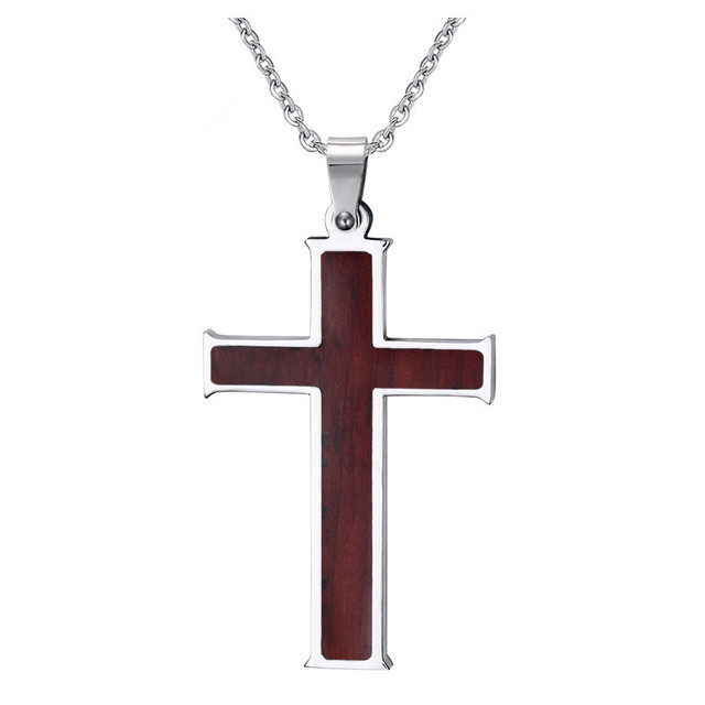 Cool new design wood inlay cross pendant tungsten carbide wedding cool new design wood inlay cross pendant tungsten carbide wedding necklace retro wood necklace grain design aloadofball Image collections
