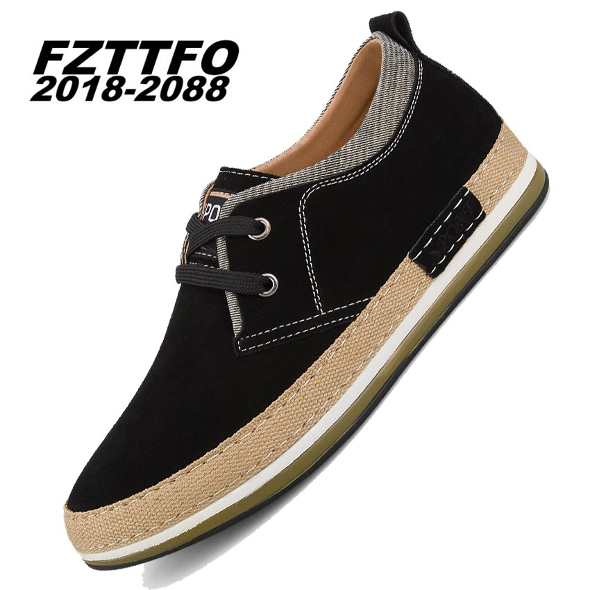 Men Suede Leather Casual Shoes,FZTTFO 2018-2088 Brand Shoes,Spring Summer Autumn Winter Height Increasing Shoes K478 684 suede shoes