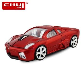 CHYI гоночный автомобиль форме Мышь Беспроводной USB оптическая мышь 1600 Точек на дюйм Мини 3D компьютерных игр мыши Gamer для портативных ПК Подар...