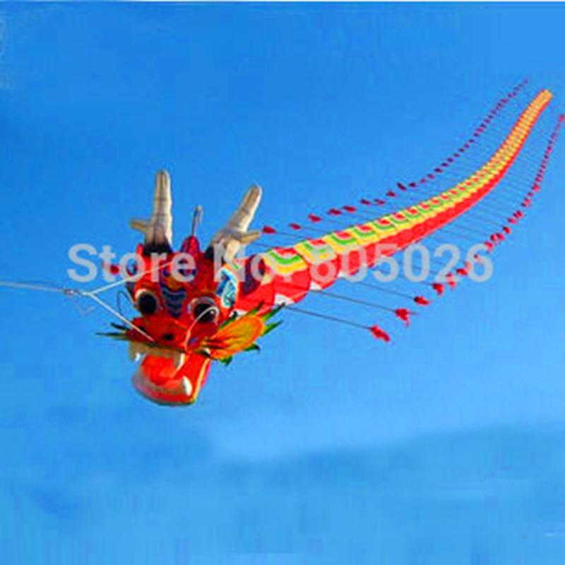 Бесплатная доставка, Высокое качество 7 м Chinses традиционный дракон кайт Китайский Кайт дизайн украшения кайт вэй кайт завод weifang игрушки