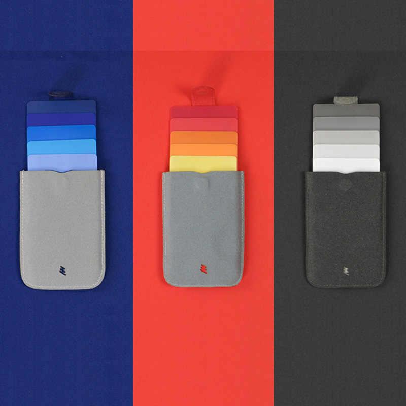 BISI GORO 2019 новый стиль для мужчин и женщин модный держатель для карт цветной тонкий мини-кошелек повседневный деловой выдвижной креативный держатель для карт s