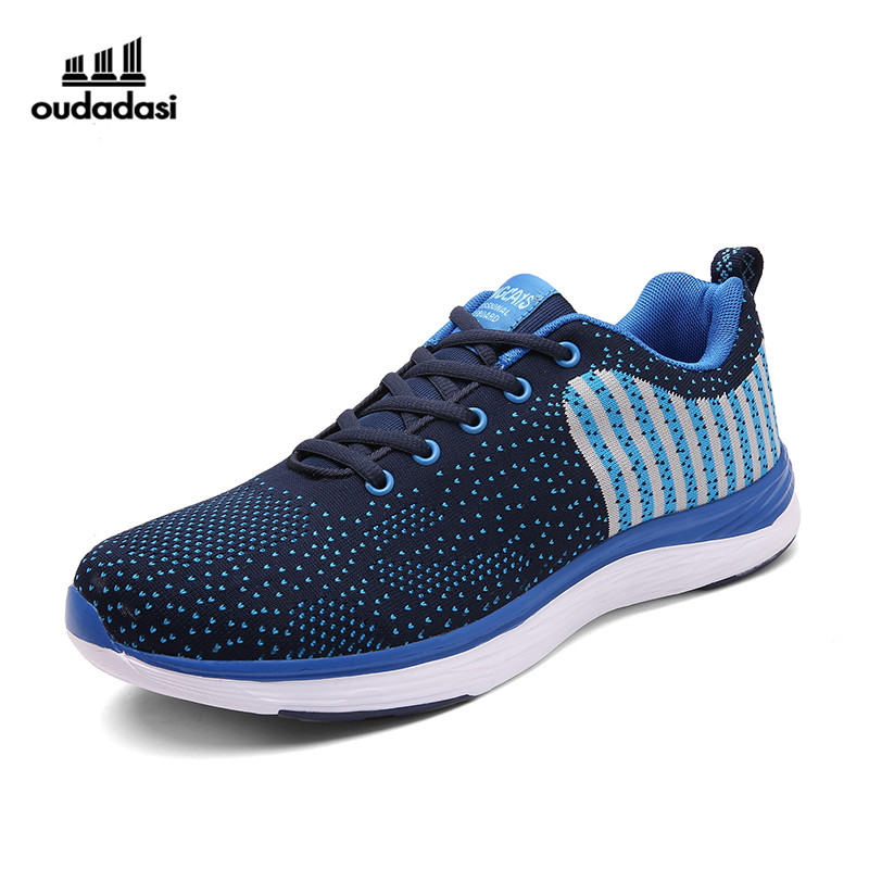 ФОТО Brand Men Running Shoes 2017 Super Light Sports Shoes Breathable Comfortable Footwear Jogging Walking Shoes Sneakers RnA49