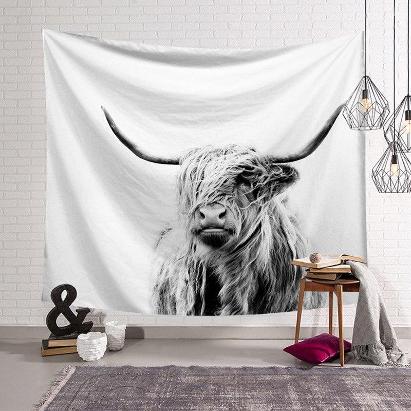 Sleep Deer Wall Tapestry Nordic Garden Decoration Fabric For Furniture Dreamcatcher Tapestry Home Decor Livingroom