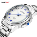 LONGBO Military Men Stainless Steel Band Sports Quartz Watches Dial Clock For Men Male Leisure Watch Relogio Masculino 80016
