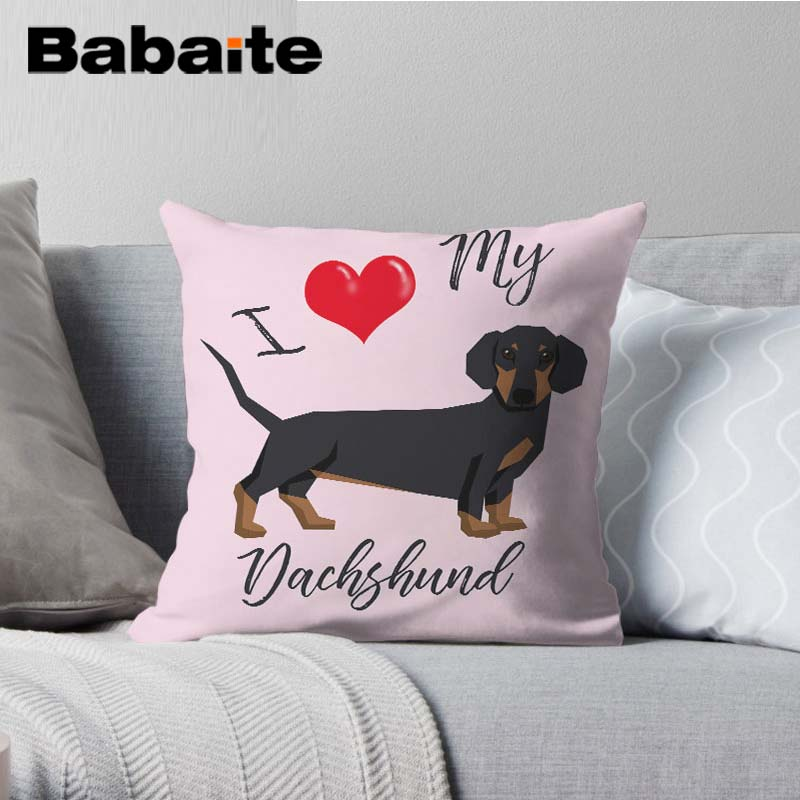 Babaite Dachshund Dog Animal cushion cover for children Car Decorative gift Cushioncover 14x14/16x16/18x18/20x20/24x24 inch