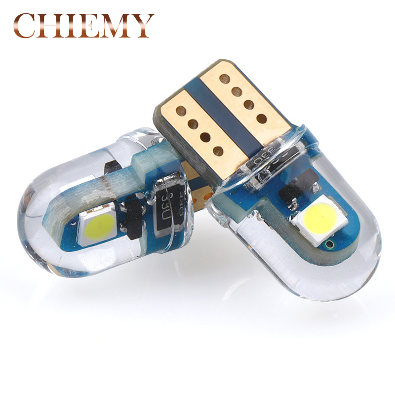 PAIR 1SMD 1 5050 SMD LED T10 W5W 194 168 AMBER INTERIOR DOME WEDGE LIGHT BULB