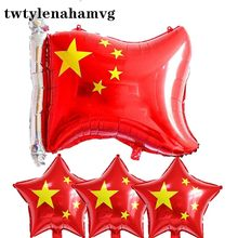 Grand Event thema decoratie tool birthday Party Anniversary CHINA Nationale Vlag rood hart ballon Olympische Games Land mark(China)