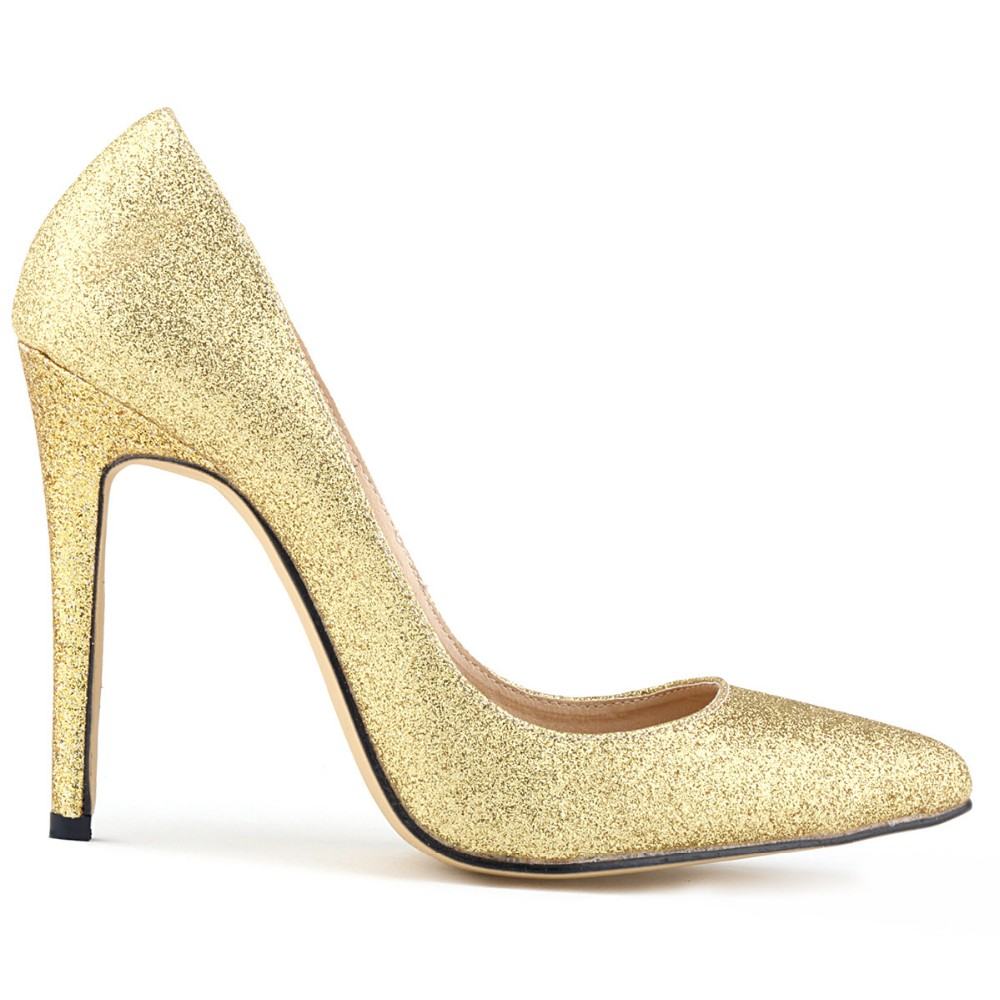 Popular Glitter Gold Pumps-Buy Cheap Glitter Gold Pumps lots from