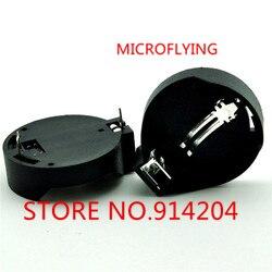 MICROFLYING 10pcs CR2032 2032 <font><b>Battery</b></font> <font><b>Button</b></font> <font><b>Cell</b></font> Coin <font><b>Holder</b></font> Socket Case Black