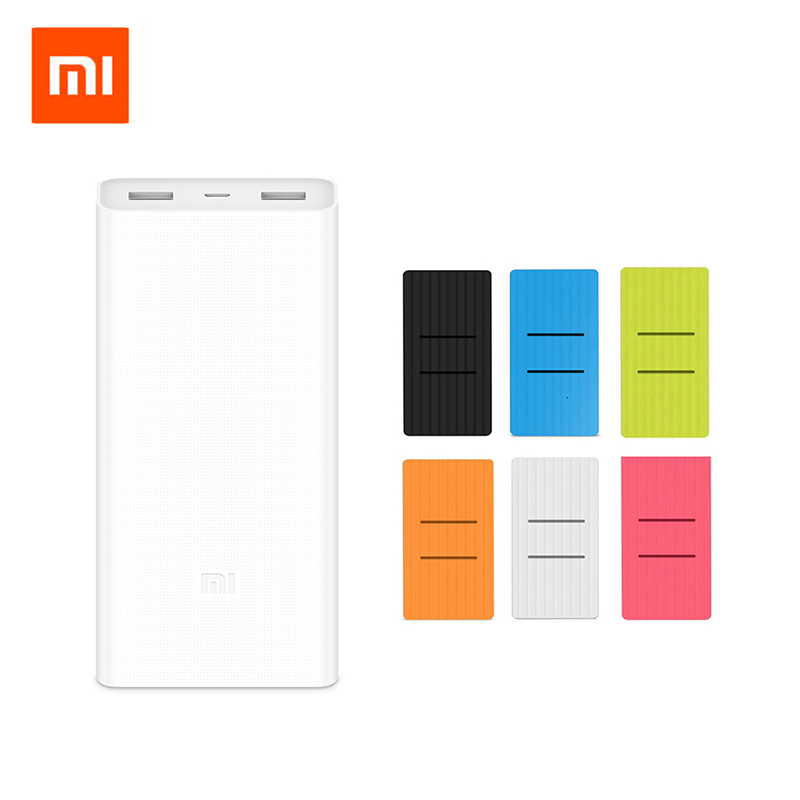 Original Xiaomi Mi 20000mAh Power Bank 2C Portable Charger Dual USB 20000 MAh Powerbank External Battery