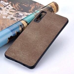 Image 5 - Case for Samsung Galaxy A5 A6 A7 A8 A9 A10 A30 A50 M30 M20 M10 Star 2017 2018 coque case Luxury Fabric Cloth Leather cover funda