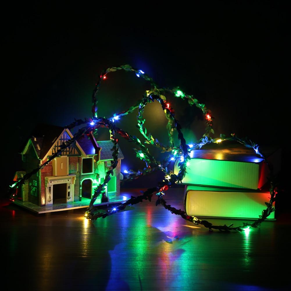 ₩5 M rattan bola LED batería operado luz de la secuencia de hadas de ...