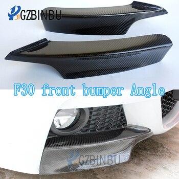 apply F30 Carbon Fiber Fender Trim Front Bumper Lip Corner Spoiler Splitter For BMW 3 Series F31 with The wind knife 2012 - 2018