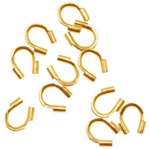 500pcs Jewelry Wire U Shape Crimp End Beads Guard Guardian Protectors loops for Jewelry Making Gold Silver Bronze