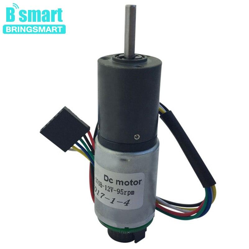 Bringsmart PG22-370B Planetary Reducer 12V 95rpm Encoder DC Motor Gear Electrical Machinery Mini Speed Reduction Motor Encoder