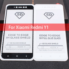 5D Full Cover Tempered Glass For Xiaomi Redmi Note 5A Pro Full Glue Screen Protector Film For Redmi Y1 Note 5A 5A Prime Glass perfeo защитное стекло xiaomi redmi note 5a золотой 0 33мм 2 5d full screen asahi pf a4171