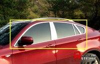 Нержавеющаясталь для BMW X5 E70 2009 2013 нержавеющая внешний подоконник крышка Накладка + Centra стойке планки Accessaories 20 штук