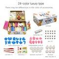 Глина для моделирования  мягкая полимерная  с инструментами  обучающая игрушка  24 цвета  специальные игрушки для поделок