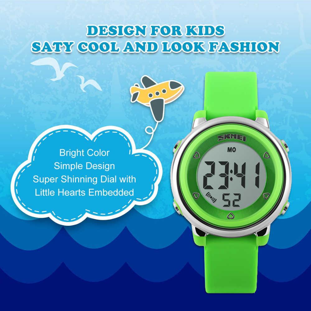 2018 SKMEI Children watch LED Digital Sports Relojes Mujer Boys girls fashion Kids Cartoon Jelly Waterproof Wristwatches