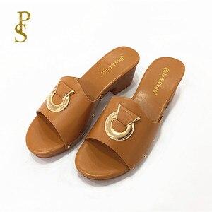 Image 4 - Scarpe con bottoni in metallo pistoni di estate delle Donne