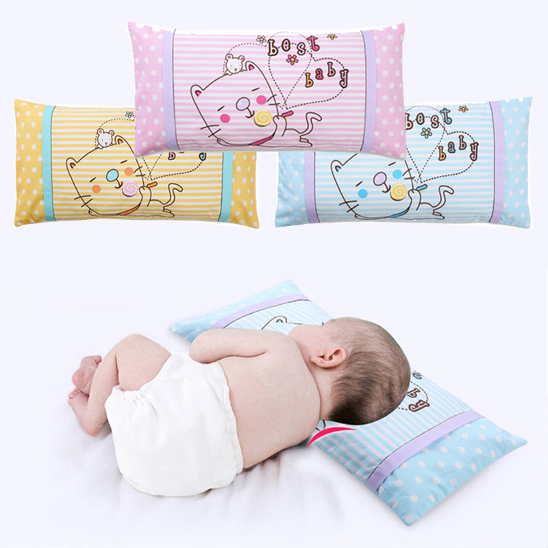 Baby Pillow Infant Neck Pillow Toddlers Cat Cartoon Character Soft Pillow Kindergarten Children Cotton Neck Protection Cushion