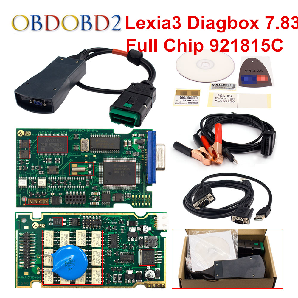 High Quality Lexia3 Full Chip 921815C Lexia 3 PP2000 Diagbox V7 83 Car Diagnostic Scanner For