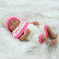 11'' African American Reborn Baby Doll Girl Full Vinyl Newborn Baby Lifelike New Type Birthday Gift for Kids Girls Lifelike Doll