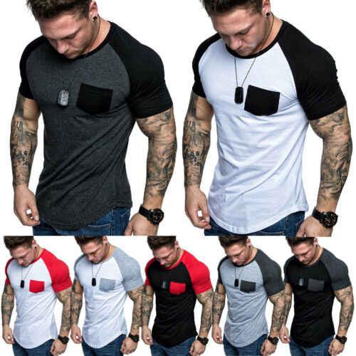 新メンズ半袖 Tシャツスリムフィットカジュアルブラウスシャツ夏の休日のビーチ基本筋肉 Tシャツトップスシャツ 2019 新しい