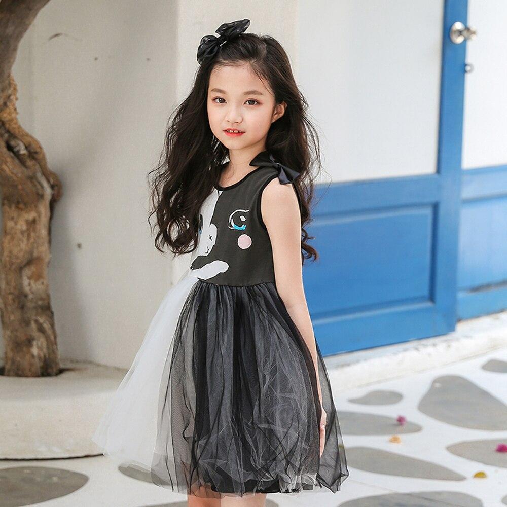 B-S15 nouvelle mode d'été filles robes 2018 enfants robes pour filles robes de princesse 5-14 T enfants Net-fil robe élégante pour les filles - 5