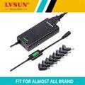 Lvsun poder ac 120 w 5-24 v automático ultra slim de viagem universal Adaptador do portátil com Porta USB Apto Para Quase Todas As Marcas Notebook