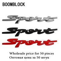 BOOMBLOCK 50X Wholesale Sport Stickers On Cars For Toyota Lada Nissan BMW Honda VW Kia Skoda Mazda Ford Car Styling Accessories