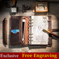 Cuaderno de viaje de cuero retro multifuncional diario hecho a mano 2019 bala diario planificador Bloc de notas a5