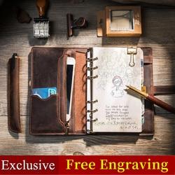 Multifuncional Vintage cuero diseño de viajero diario de viaje diario hecho a mano 2019 bala diario planificador Bloc de notas a5