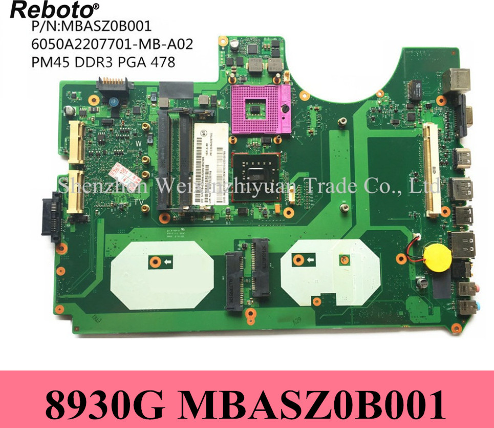Reboto For Acer 8930 8930g Laptop Motherboard Mainboard Mbasz0b001 100% Tested Promoting Health And Curing Diseases Computer & Office
