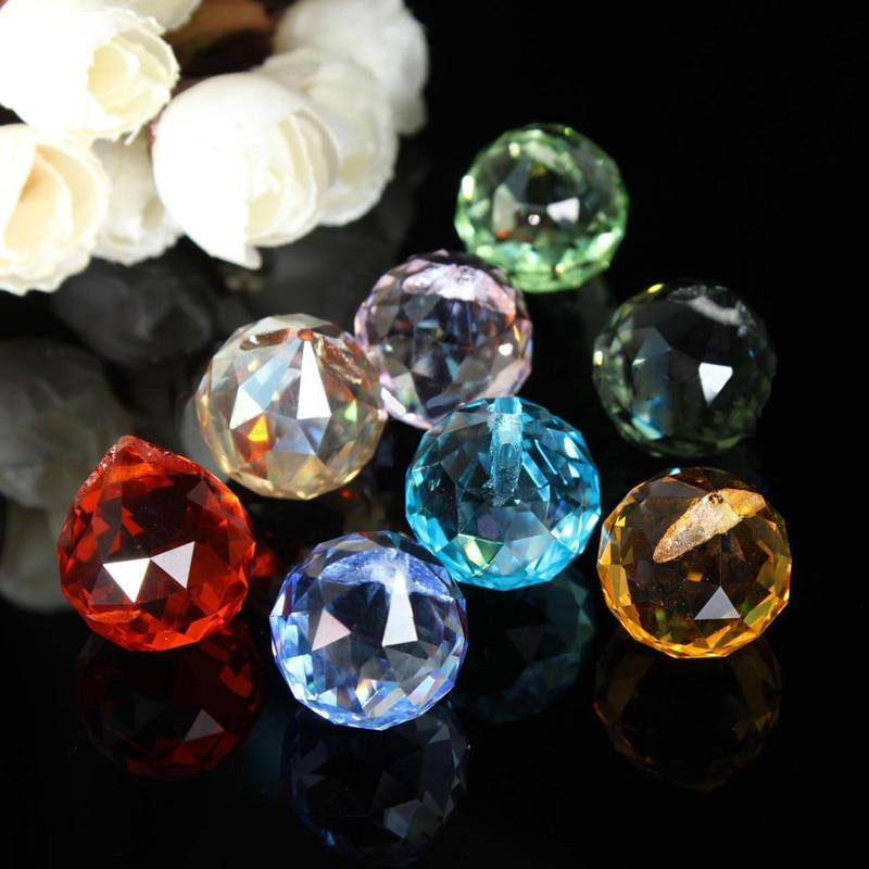 8Pcs Crystal Chandelier Parts Haning Glass Prisms Rainbow Suncatcher Pendants For Light Lamp Chandelier Pendants