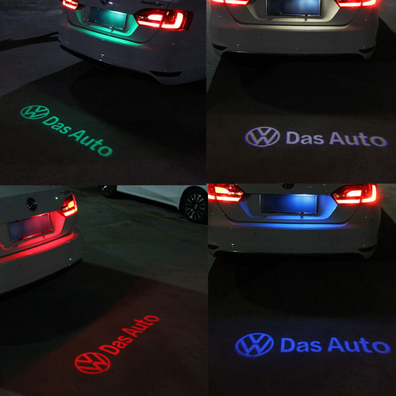 1 x LED Car License Plate Lights Shadow led Projector Logo FOR VW Volkswagen passat B7